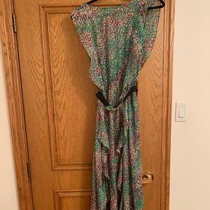 BCBG floral print maxi dress